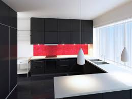 Black White And Red Kitchen Designs Contemporary Kitchens Hgtv