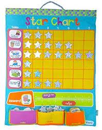 Fiesta Crafts Fabric Star Chart Reward Chart Star Chart Fabric Wall Hanging Blue
