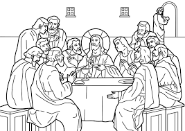 Free Coloring Pages For Last Supperll L