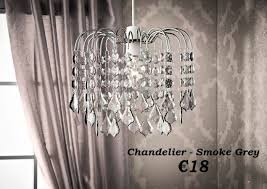 smoke grey crystal chandelier