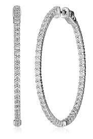 designs eternity hoops white gold diamond hoop earrings cttw jewelry vintage rose rings chandelier most expensive