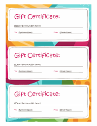 Free Gift Voucher Template For Word Gift Certificates Bright Design 3 Per Page Templates Office