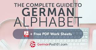 German Alphabet Chart Learn The German Alphabet With The Free Ebook Germanpod101