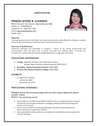 First Job Template Resume Examples Objective Mmventures Co