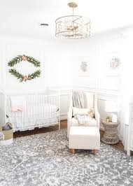 Nursery with white furniture Antique An All White Nursery Makeover Room Reveal With Classic Vintage Style Furniture Anthropologie Blesser House White Floral Nursery Makeover Reveal Blesser House