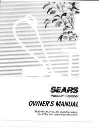kenmore vacuum repair manual photos