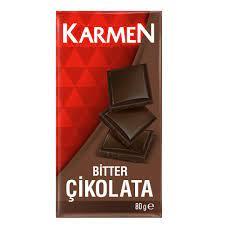 Karmen Bitter çikolata 80 Gr.