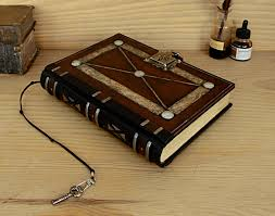 vintage leather journal with lock and key meval journey