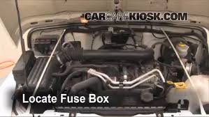 replace a fuse 1997 2006 jeep wrangler 2006 jeep wrangler locate engine fuse box and remove cover