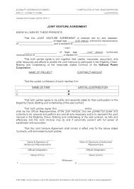 Joint Venture Agreement Template And Simple Awesome Doc Agr