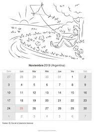 Calendario Noviembre 2020 Para Imprimir Calendario Noviembre 2019 Para Imprimir Argentina