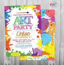 Print Out Birthday Invitations Interesting Art Paint Party Invitations Printable Birthday Invitation Etsy