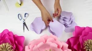 Pearl S Crafts Paper Flower Templates Diy Paper Flower Backdrop Spring Colors Template 13 Full Video