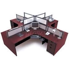 office desk workstation. Simple Workstation Storlie 4 Person LDesk Workstation With Desk Mounted Panels For Office A
