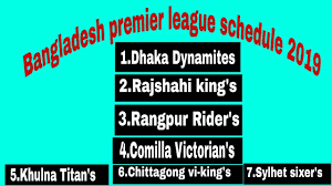 Bpl Shedule 2019 Bpl Full Fixture 2018 Bangladesh