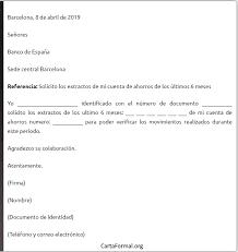 Formato De Carta De Solicitud Carta Al Banco Solicitando Extractos Estado De Cuenta Bancario