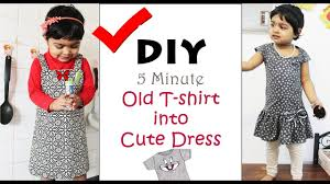 old t shirt s for girls diy convert old t shirt into new clothes