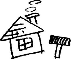 家とトンカチ かわいいゆるい無料イラストてがきですのβ