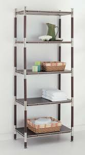 Corner Shelving Unit For Bathroom Glass Bath Shelf And Wood Bath Shelves OrganizeIt 90