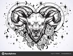 Ručně Kreslené Krásné Kresby Ram S Pivoňka Květiny A Astrologii