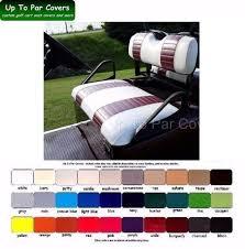 e z go txt golf cart custom front seat cover set 2 stripe staple on