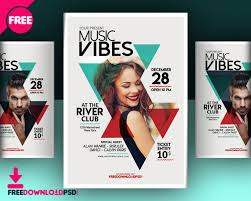 Club Flyer Templates Free Download Music Club Flyer Template Freedownloadpsd Com