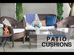 patio furniture cushion covers. Architecture No Sew Patio Cushion Covers YouTube With Regard To Recover Furniture Cushions Inspirations 17 Bathroom I