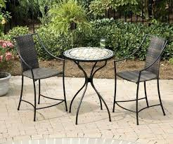 garden furniture bistro set mosaic attractive small outdoor table with
