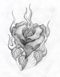 Heart And Roses Tattoo Drawings Rose