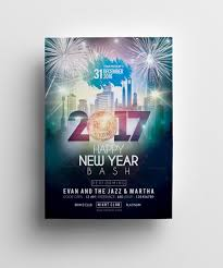 Elegant New Year Party Flyer Template 001036 Template Catalog