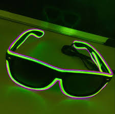 Neon Light Glasses Us 4 77 20 Off Led Glow Sunglass Glasses Fashion Neon Light Up Glow Rave Costume Party Bright Sunglasses Easter Party Supplies In Glow Party