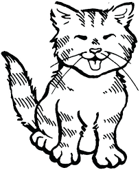 Cute Cat Coloring Pages Printable Cute Cat Coloring Pages Kitty Page