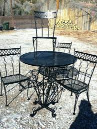wrought iron patio table and chairs garden furniture mid century design very heavy wrought iron patio