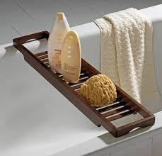 Bathroom Caddies Teak Bathtub Caddy Bath Tub Trays Bamboo Shelf Wooden Over  The