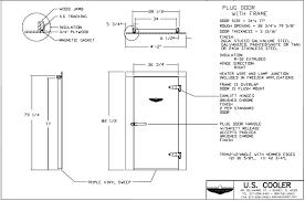 technical walk in drawings u s cooler walk ins plug door frame
