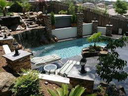 Small Backyard Designs With Pool And Outdoor Kitchen  Kitchen - Outdoor kitchen designs with pool