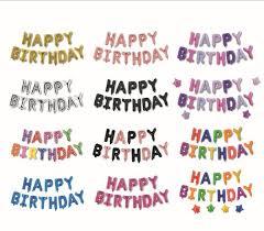 <b>13pcs</b>/<b>set</b> 16inch Letter Foil <b>Balloons</b> HAPPY <b>BIRTHDAY Balloons</b>