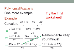 Adding and Subtracting Polynomial Fractions - ppt download