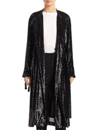 a l c holloway sequin jacket black stand collar bqp 69732