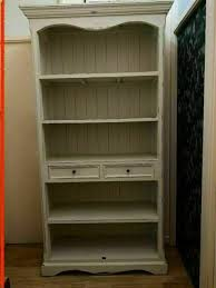 lombok distressed wooden bookcase