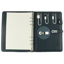 14. For the Person Whose Phone Always Dies: Hardcover Notebook With  Portable Charger , $41