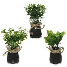 <b>Растение искусственное в</b> стеклянном кашпо 5х13 см микс 800652
