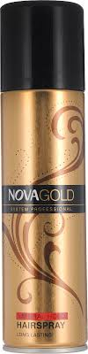 Золотистый <b>лак для волос</b> Nova GOLD с протеинами <b>шёлка</b> 200 ...