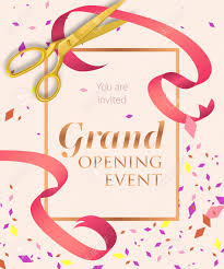 Grand Opening Invitations Grand Opening Event Lettering With Scissors Opening Event Invitation
