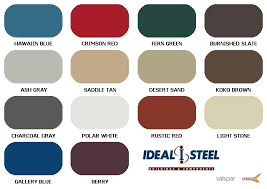 Color Chart Ideal Steel