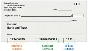 routing number on check how it works com sample of a personal check