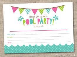 free printable blank pool party invitations. Fine Party Chalkboard Pool Party Invitation Template Printable  Free  To Free Blank Invitations Y