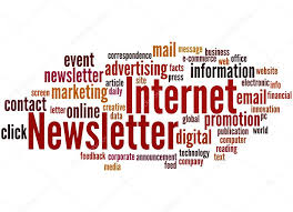 Newsletter In Word Internet Newsletter Word Cloud Concept 8 Stock Photo