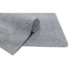 allen roth 34 in x 20 light gray cotton bath mat at