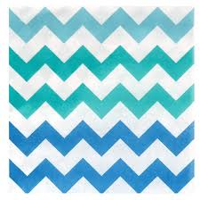 Light Blue Chevron Paper Napkins Chevron Blue Lunch Napkins Pasta Dinner Paper Dinner